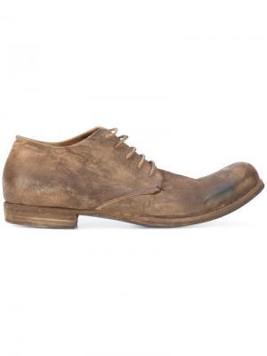 Ботинки-дерби с эффектом поношенности A Diciannoveventitre. Цвет: коричневый