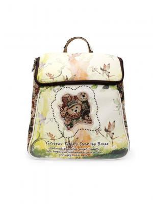Рюкзак женский Danny Bear. Цвет: светло-коричневый, белый
