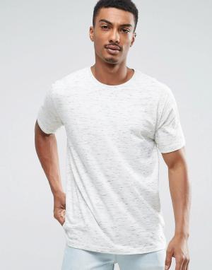 Troy Меланжевая футболка. Цвет: белый