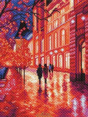 Набор для вышивания  Ночной город Матренин Посад. Цвет: малиновый