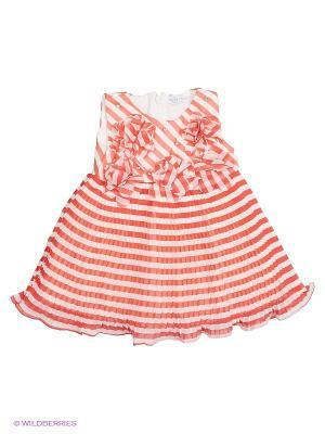 Платье Baby Rose. Цвет: белый, красный