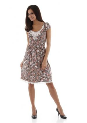 Платье Aniston. Цвет: серый с рисунком