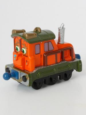 Паровозик Калли с прицепом Chuggington. Цвет: оранжевый, зеленый
