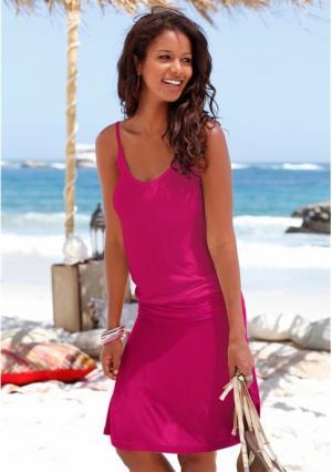Пляжное платье BEACH TIME. Цвет: синий/с рисунком, черный
