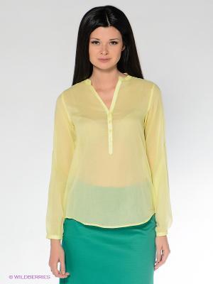 Блузка MILANO ITALY. Цвет: желтый