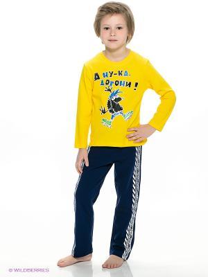 Пижама PELICAN. Цвет: темно-синий, желтый