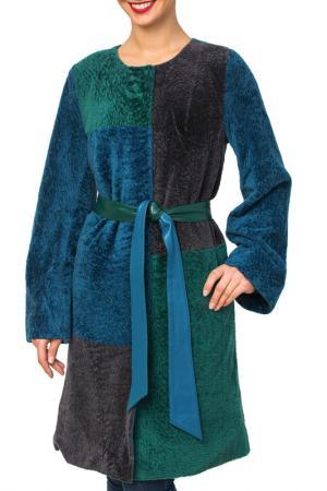 Пальто из мутона Mondial. Цвет: зеленый