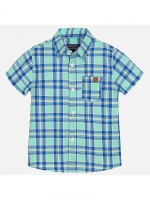 Рубашка Mayoral. Цвет: зеленый