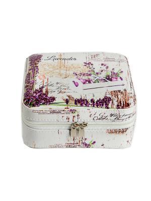 Шкатулка для ювелирных украшений Русские подарки. Цвет: белый