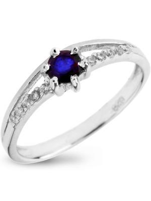 Кольцо Sandara. Цвет: серебристый, синий
