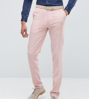 ASOS Розовые брюки скинни TALL Wedding. Цвет: розовый
