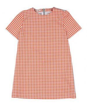 Платье MARNI. Цвет: оранжевый