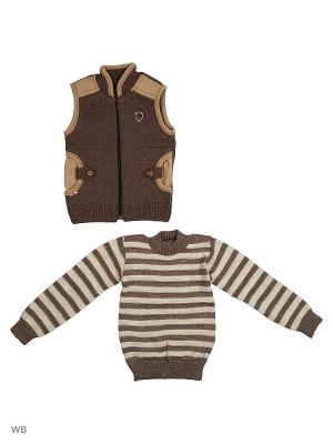 Комплекты одежды для малышей Babycollection. Цвет: коричневый, бежевый
