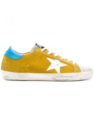 Кеды Superstar Golden Goose Deluxe Brand. Цвет: жёлтый и оранжевый
