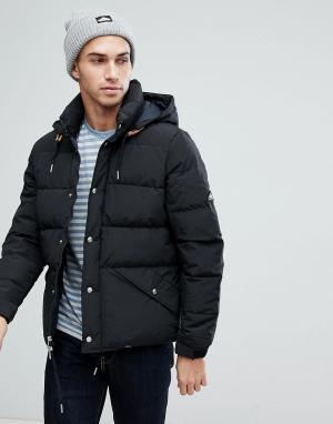 Penfield Черная пуховая куртка со съемным капюшоном Bowerbridge. Цвет: черный