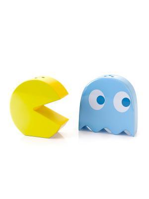 Солонка и перечница Pac-Man Balvi. Цвет: голубой, желтый