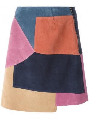 Юбка Kalle Mih Jeans. Цвет: многоцветный
