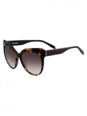 Очки солнцезащитные KL 930S 013 Karl Lagerfeld. Цвет: коричневый