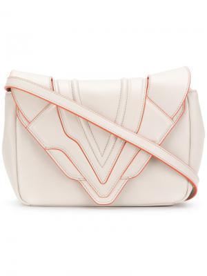 Маленькая сумка через плечо Felina Elena Ghisellini. Цвет: телесный