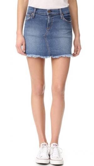 Обрезанная мини-юбка James Jeans. Цвет: throwback clean