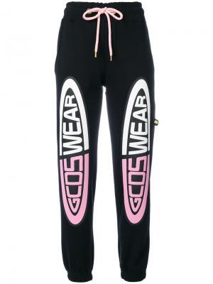 Укороченные спортивные брюки с логотипом Gcds. Цвет: чёрный