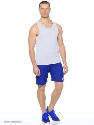 Майка DRI-FIT COOL MILER SINGLET Nike. Цвет: светло-серый