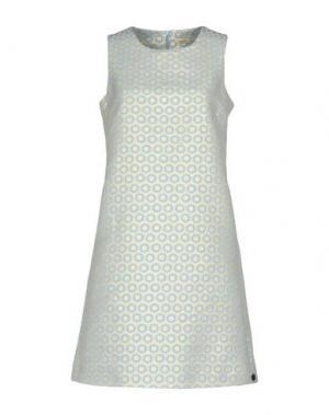 Короткое платье MOUCHE. Цвет: небесно-голубой