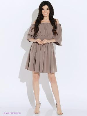 Платье MARBI. Цвет: темно-бежевый