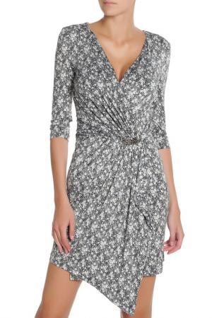 Коктейльное платье с рукавом 3/4 Gloss. Цвет: серый