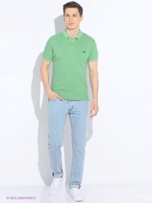 Футболка-поло Staff. Цвет: зеленый