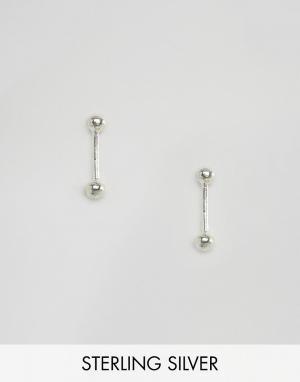 Fashionology Серебряные серьги-гвоздики с шариками. Цвет: серебряный
