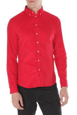 Рубашка American Apparel. Цвет: красный