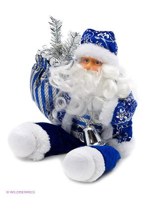 Кукла Дед Мороз Новогодняя сказка. Цвет: синий, белый