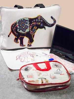 Набор для шитья и вышивания Слон Флора Матренин Посад. Цвет: бежевый, красный