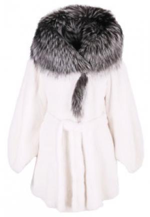 Меховое пальто норка BELLINI. Цвет: белый