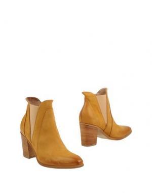 Полусапоги и высокие ботинки DONNA PIÙ. Цвет: песочный