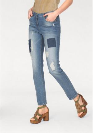 Джинсы Aniston. Цвет: синий