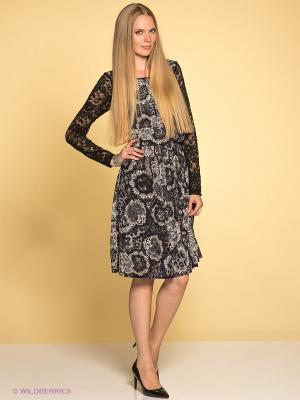 Платье TOPSANDTOPS. Цвет: темно-синий, бежевый