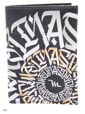 Обложка для паспорта Malinasport. Цвет: черный, желтый, белый