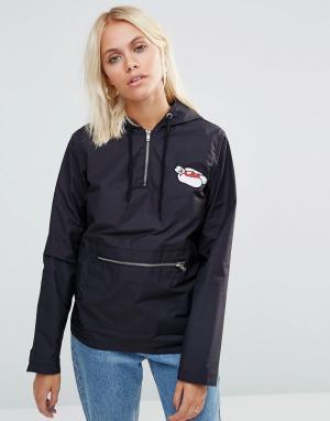 This Is Welcome Куртка с вышивкой Wishdom. Цвет: черный