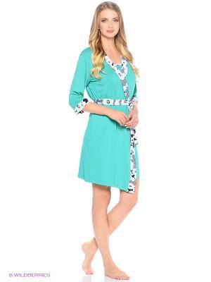 Костюм домашней одежды HomeLike. Цвет: бирюзовый