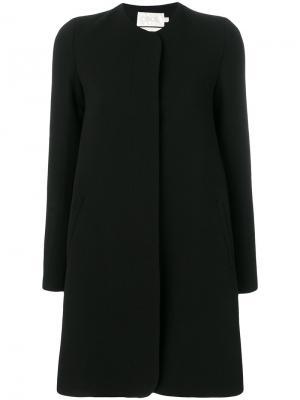 Классическое пальто на пуговице Goat. Цвет: чёрный