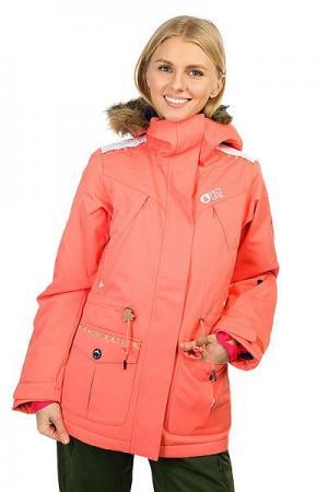 Куртка утепленная женская  Apply Corail Picture Organic. Цвет: розовый
