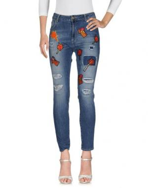 Джинсовые брюки SIMONA CORSELLINI. Цвет: синий