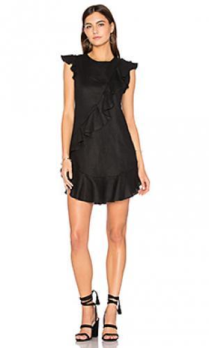 Мини юбка с рюшами anthony Karina Grimaldi. Цвет: черный