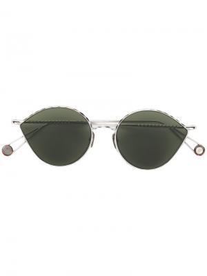 Круглые солнцезащитные очки с затемненными линзами Ahlem. Цвет: металлический