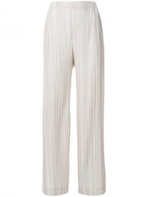 Широкие плиссированные брюки Antonelli. Цвет: телесный