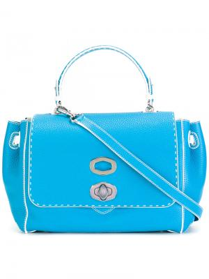 Twist-front shoulder bag Ermanno Scervino. Цвет: синий