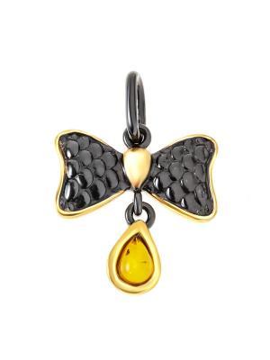 Подвеска Балтийское золото. Цвет: черный, горчичный, золотистый