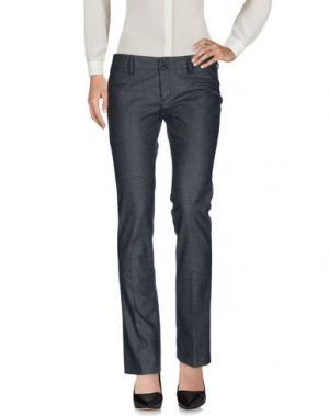 Повседневные брюки LIST. Цвет: свинцово-серый